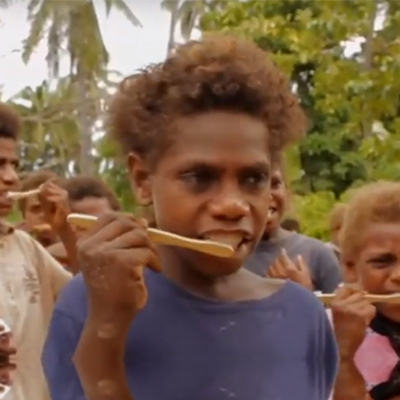 Vanuatu seasonal workers who have been delivering oral health promotion